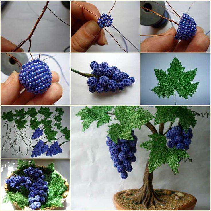 DIY Beautiful Beaded Grape Vine | iCreativeIdeas.com Follow Us on Facebook --> https://www.facebook.com/icreativeideas