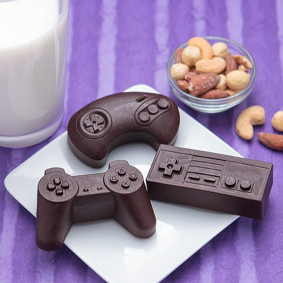 You can make controller-shaped desserts with this silicone baking mold from ThinkGeek. Sweet.