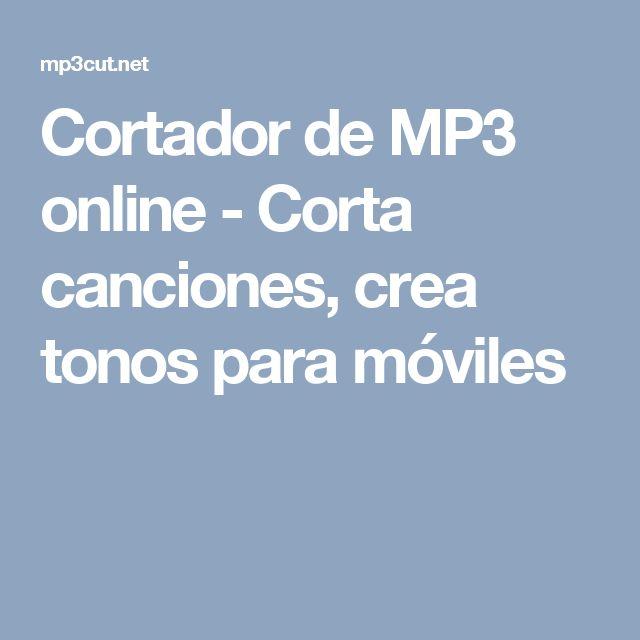 Cortador de MP3 online - Corta canciones, crea tonos para móviles
