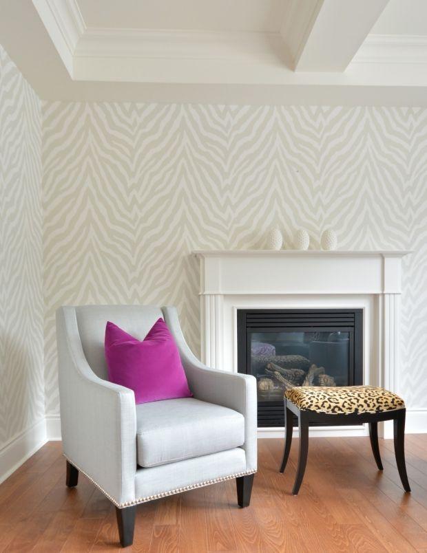 Sovrum tapet Meredith Heron Design #Brooklin Family Room Thibaut Etosha Wallpaper