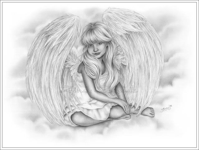Exotic Fairy Coloring Pages Little Angel In The Sky S