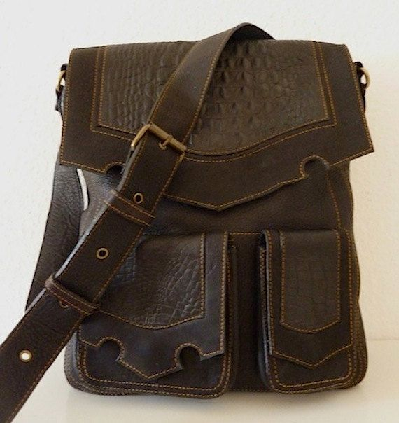 Burning Man Unisex Leather Shoulder Bag by ELLKO on Etsy