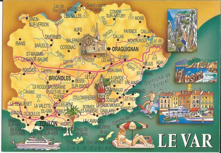 83 var   Départements français, France et Cartes postales anciennes