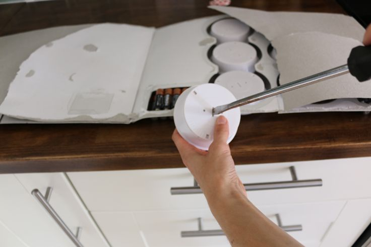 Install under-cabinet lights to brighten up your kitchen. This tutorial shows you how to do it.