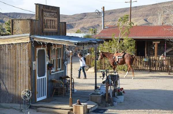 Pioneertown - built in 40's as TV movie set - now home to live music at Pappy and Harriets