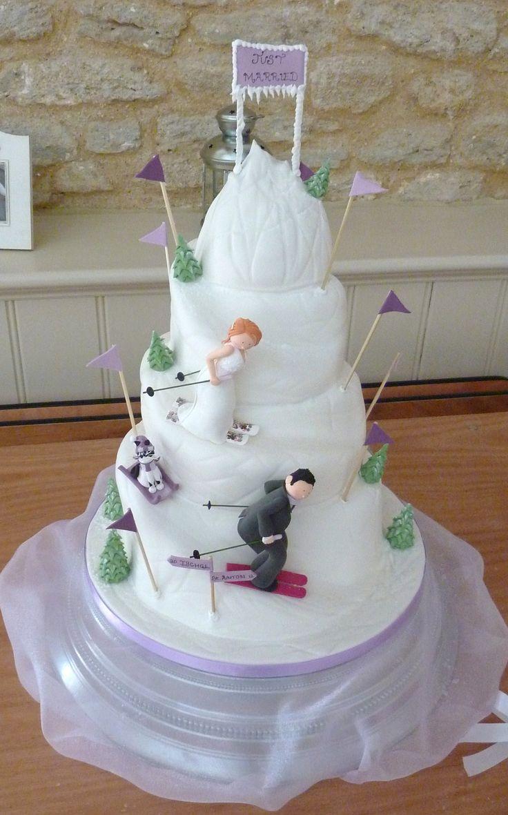 7 Best Skiing Wedding Cakes Images On Pinterest