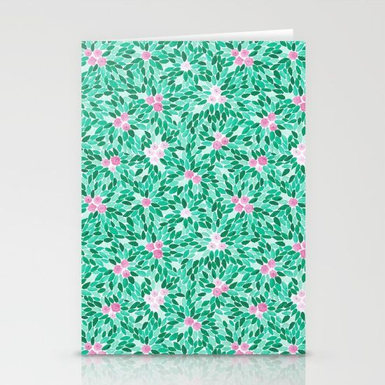 Helena N / Society6  Set of folded stationery cards printed on bright white, smooth card stock to bring your personal artistic style to everyday correspondence.  Each card is blank on the inside and includes a soft white, European fold envelope for mailing.