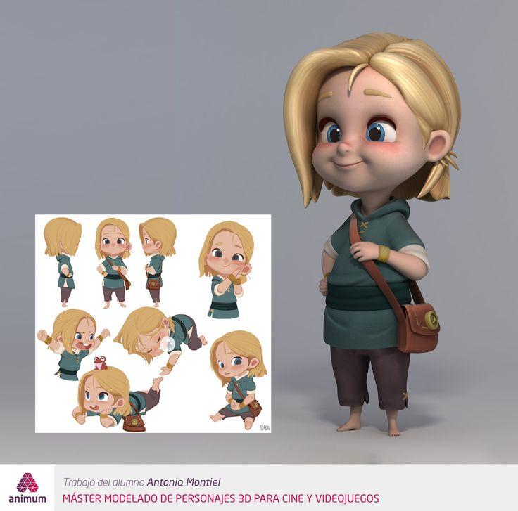 Judy   Modelado de Personaje Cartoon, Animum Creativity Advanced School on ArtStation at https://www.artstation.com/artwork/0VD15