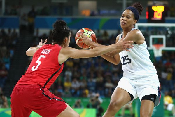 Marielle Amant of France is put under pressure from Kia Nurse of Canada   during…