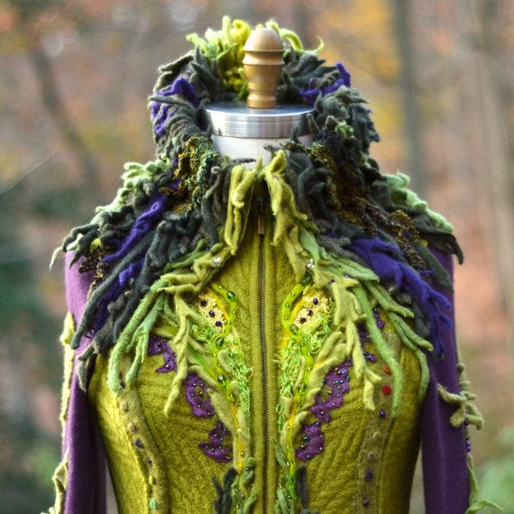 Custom COAT for Ann. Fantasy corset style sweater by amberstudios