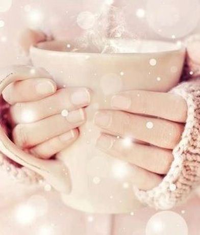 cocoa or tea & a warm sweater for me.  hello winter!