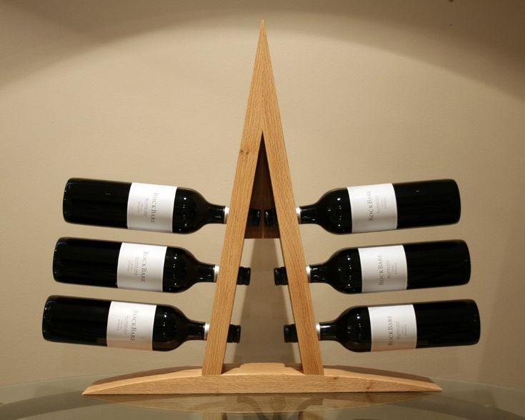 furniture simple wooden wine rack furniture in triangle shape suitable for minimalist bar room decorating ideas delightful wine rack furni - Wooden Wine Rack