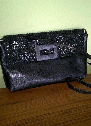 Kup mój przedmiot na #vintedpl http://www.vinted.pl/damskie-torby/kopertowki/15652196-czarna-wieczorowa-torebka-piekna-z-cekinami