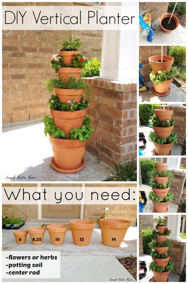 Garden Pots Vertical Planter