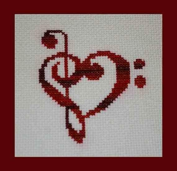 Χειροτεχνήματα: Σχέδια με μουσικά όργανα για κέντημα / Musical instruments cross stitch patterns