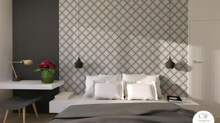#small #bedroom #renovation - 3D Visualization  #modern  #blackandwhite #elegant  #edesign #onlinedesignservice VERSION 2