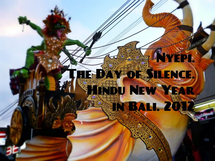 Nyepi the Day of Silence and the Hindu New Year in Bali. 2012