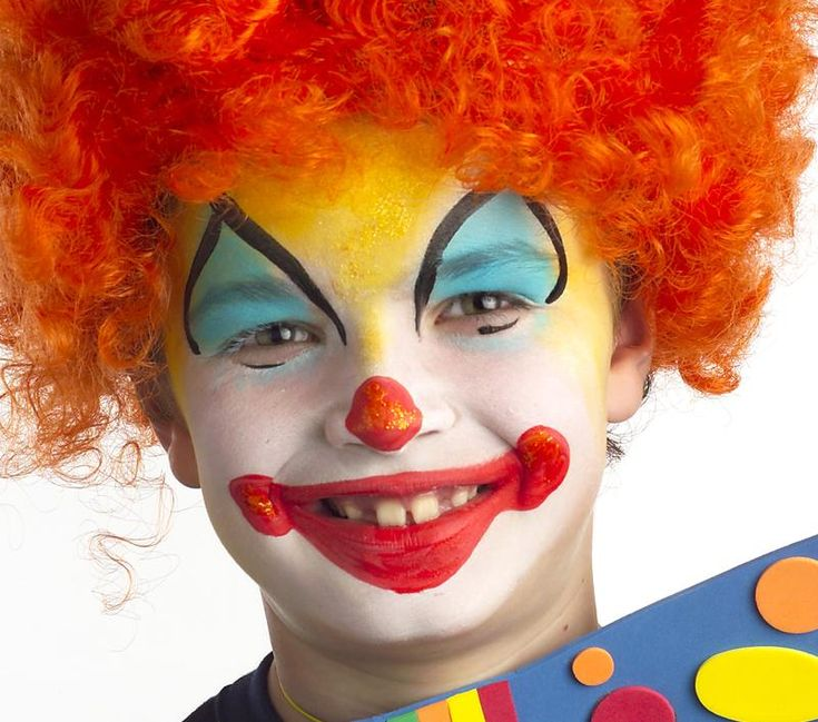 Un maquillage ind modable pour le carnaval le clown for Face painting clowns for birthday parties