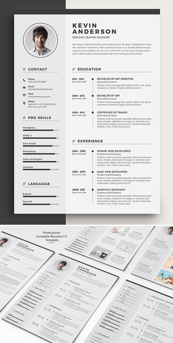 30 Best Word Resume Templates With Images Graphic Design