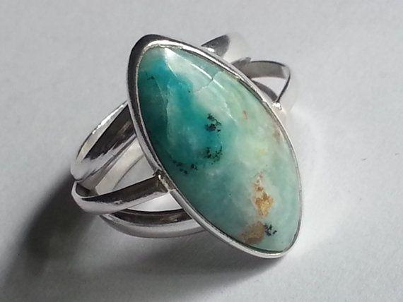 Tamaño del anillo de ópalo peruano  8.25
