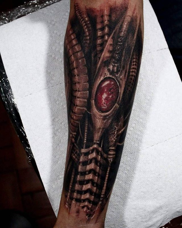 WEBSTA @ matiasfelipe_ds - #biomech #giger #bio#tattoo #chile