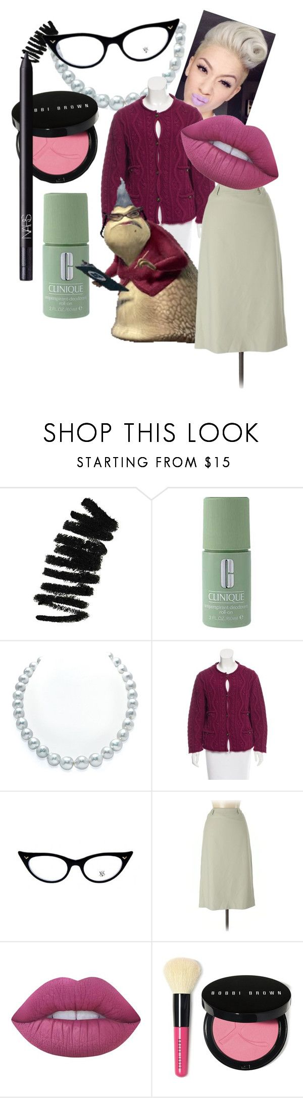 """Monster's inc. ""Rose"""" by chevakee ❤ liked on Polyvore featuring Bobbi Brown Cosmetics, Clinique, Chanel, INC International Concepts, Lime Crime and NARS Cosmetics"