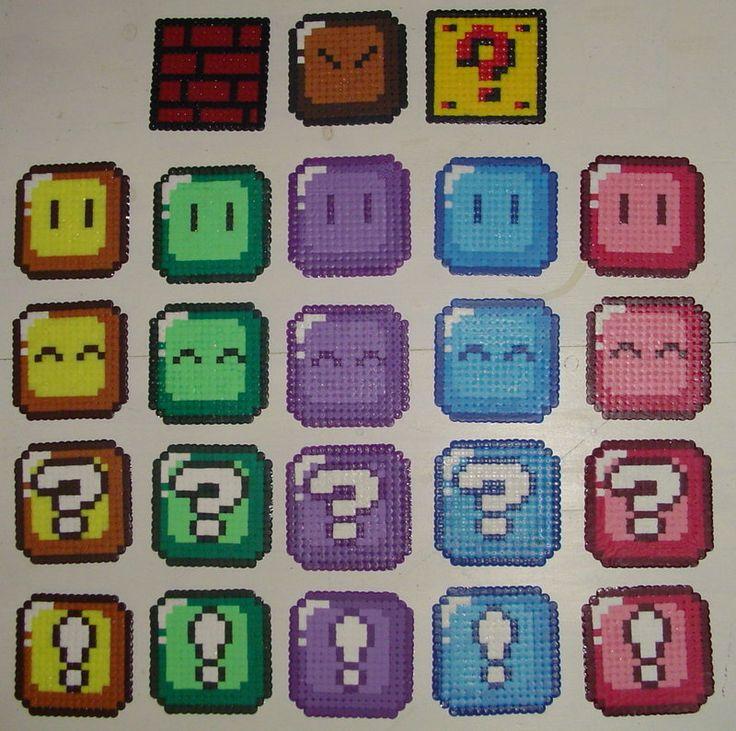 Hama Beads - Mario blocks by acidezabs on deviantart