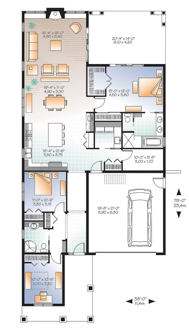 28 best Small Home Plans images on Pinterest House floor plans
