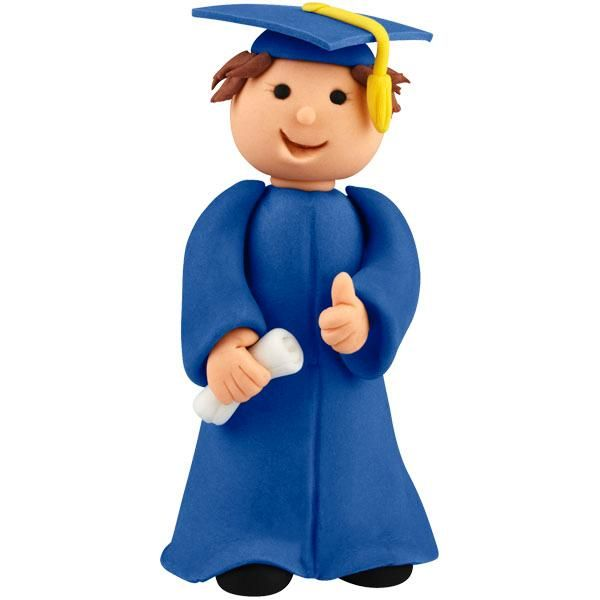 Congratulate your favorite grad by modeling an edible cake topper in his likeness with The Wilton Method of 3-D Character Modeling. Use the Measure-N-Shape sizing & blending tray to get his proportions correct.