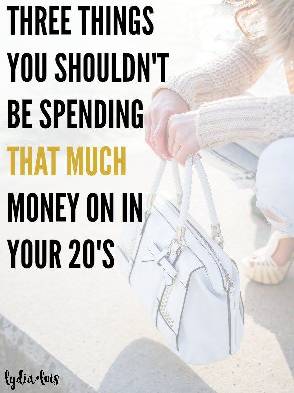 Are you trying to live the life and becoming broke or in debt in the process. Let me take a load off and tell you three things you really shouldn't be spending money on at this age. Click through for some tough love and real talk. // Lydia Lois