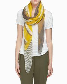 Pretty Yellow & Grey Scarf.