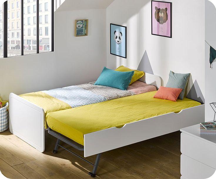 ausziehbett zazou wei 90x190cm - Modernes Tagesbett Mit Ausziehbett