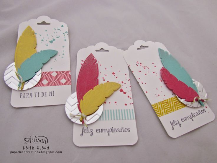 Wednesday, September 3, 2014PAPERLAND CREATIONS: Stampin' Up! Artisan Blog Hop - Four Feathers Tags