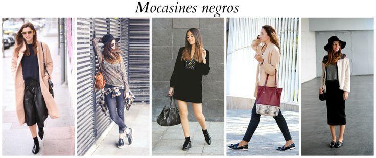 Outfit con mocasines negros #moda #fashion #bolsos #bags #zapatos #shoes #marroquineria #leathergoods #cinturones #belts #accesorios #carteras