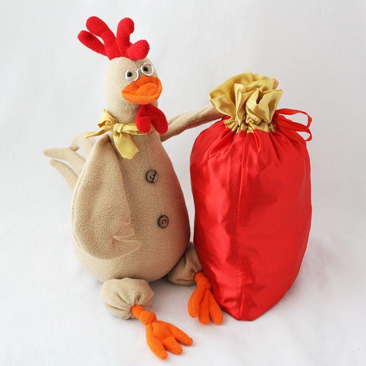 Петух с мешком (до 1500 гр) - новогодняя упаковка в виде символа 2017 года