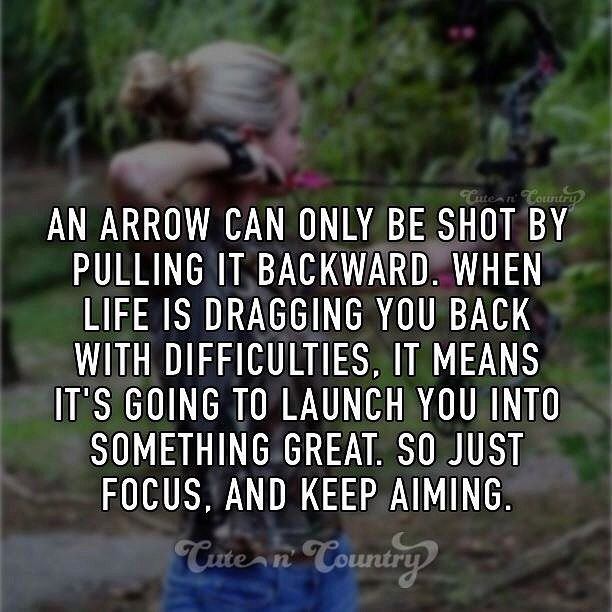 This is great!  #focus #keepdreaming #ontrack #greatness #aim #persevere #countrygirl #countryboy #greatness #keepgoing #acheive #yougotthis #difficult #launch #archery #compoundbow #crossbow #target #getthroughit #cutencountry #believe #faith ✨ www.cutencountry.com