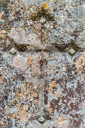 Sign of the Cross carved in the stone wall