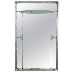 1950s Large Full-Length Mirror | From a unique collection of antique and modern floor mirrors and full-length mirrors at https://www.1stdibs.com/furniture/mirrors/floor-mirrors-full-length-mirrors/