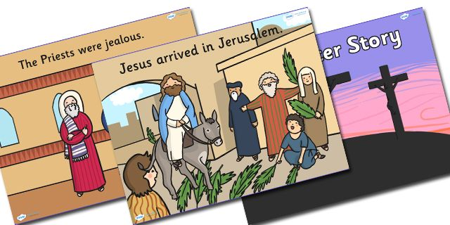 Twinkl Resources >> The Easter Story Powerpoint >> Printable resources for Primary, EYFS, KS1 and SEN.  Thousands of classroom displays and teaching aids! Topics, Easter, Stories, Powerpoints
