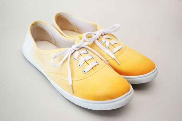 Repurpose a pair of white shoes with this ombre dip-dye tutorial!