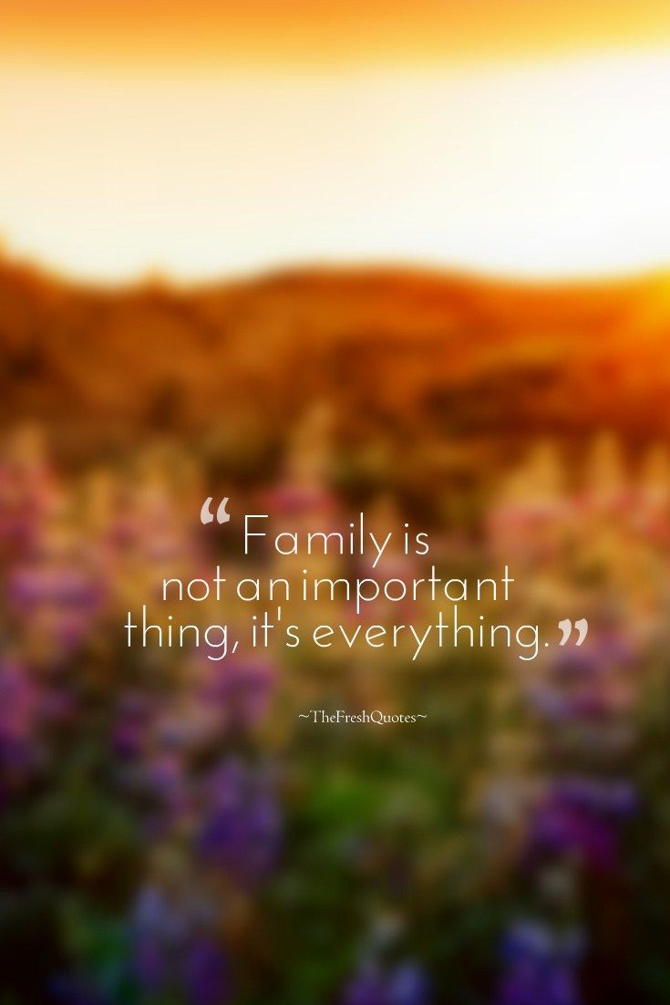 "International Day of Families is celebrated on May 15 annually. Below are some inspirational and heartwarming quotes about families with images. ♥ Family Quotes - Family Day ""Families are like fudge - mostly sweet with a few nuts."" ""Our family is a circle of strength of love with every birth and every union the circle grows."" ""Everyone needs a house to live in, but a supportive family is what builds a home."" » Anthony Liccione ""You don't choose your family. They are God's gift to you, as you…"