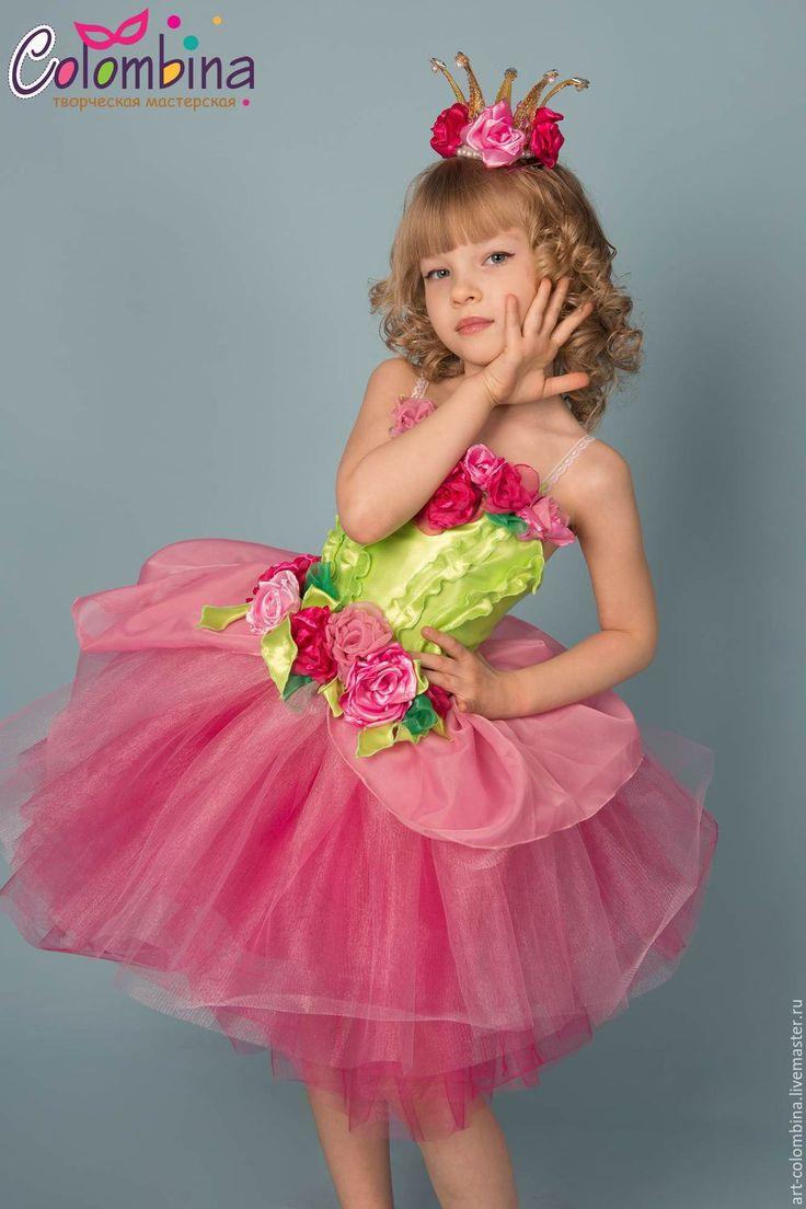 Купить Костюм принцессы роз - розовый, принцесса роз, карнавальный костюм, костюм розы