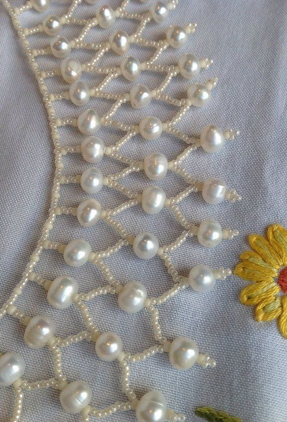 Ivory Pearl Beaded Choker Necklace