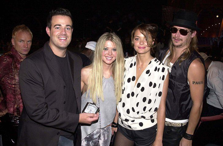 Pin for Later: A Sweet, Somewhat Hilarious History of Celebrity Couples at the MTV VMAs Carson Daly, Tara Reid, Jaime King, and Kid Rock, 2000