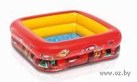 Бассейн надувной детский `Тачки` (84х84х23 см)