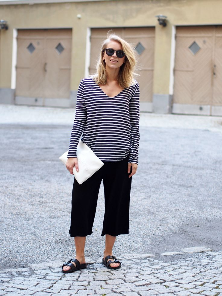 #culottes #outfit #stripes