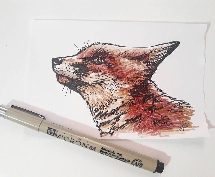 Día 10 de #inktober Hoy un zorrito 😊  #ilustracion #illustration #dibujo #drawing #fox #zorro #zorrito #pendientera #luzsanchezaguilar #inktober2016 #tinta #myart #mascota #ink #promarker #rotuladores #drawoftheday #animals #animal #art #arte #draw #zorros https://www.instagram.com/p/BLYydCMASRE/
