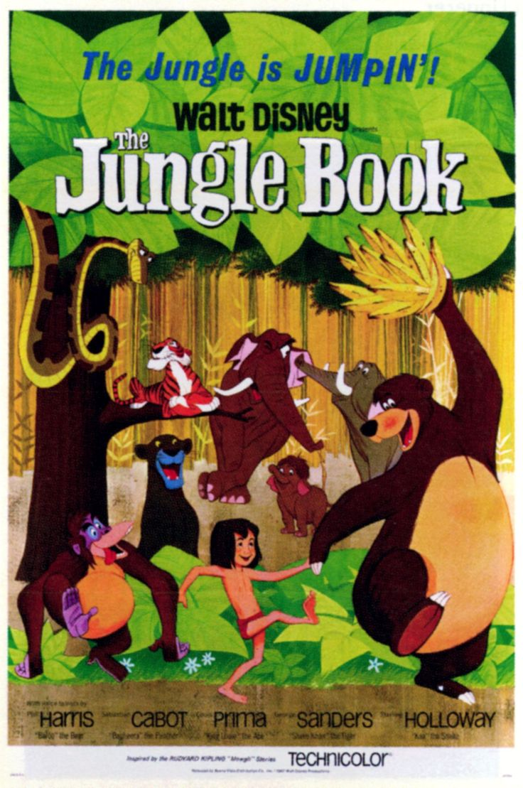 """""""The Jungle Book"""" (1967) was the last cartoon movie that Walt Disney personally supervised and produced. It was released 10 months after his death."""