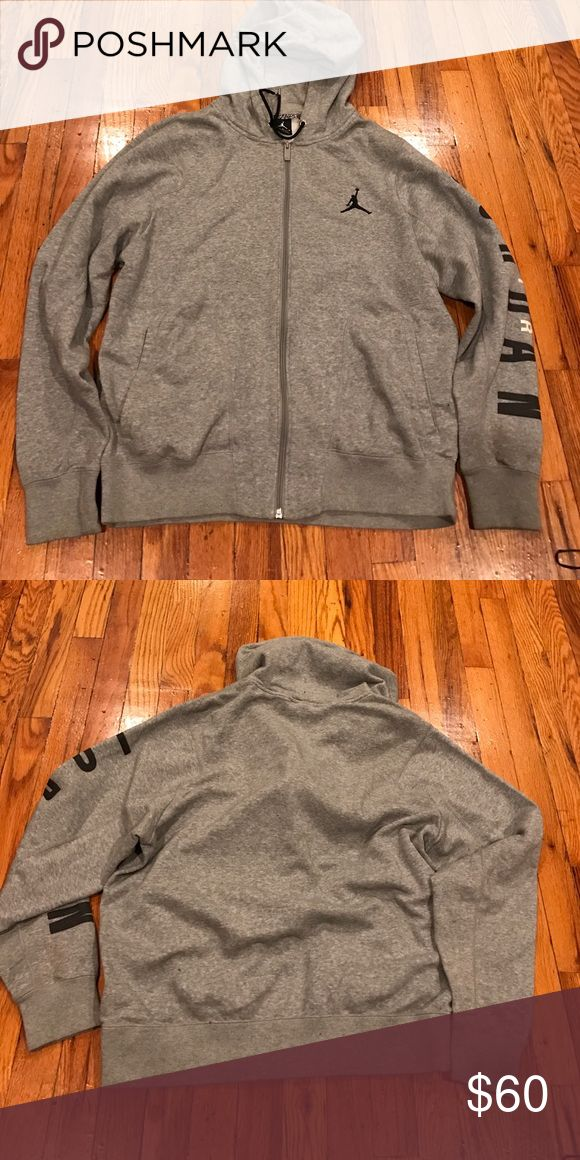 Men's Jordan Hoodie Jordan Grey Hoodie. Great Condition. Size L Jordan Shirts Sweatshirts & Hoodies