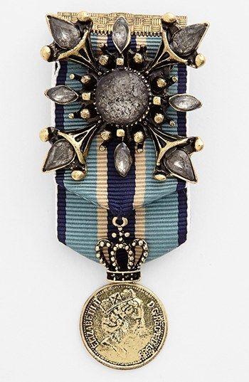 This pin will help make me an airship captain    Cara 'Royal Highness' Military Pin   Nordstrom
